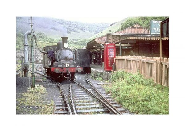 Vintage photograph Ventnor Station Isle Of Wight