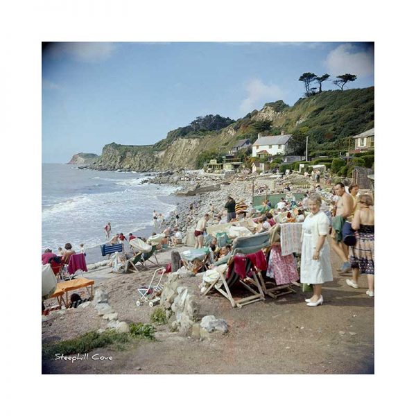 Vintage photograph Steephill Cove Isle Of Wight