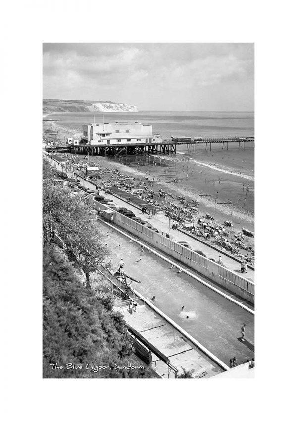 Vintage photograph The Blue Lagoon Sandown Isle Of Wight