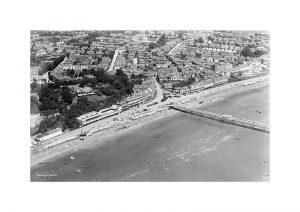 Vintage photograph Sandown Aerial Isle Of Wight