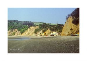 Vintage photograph Whitecliff Bay Isle Of Wight