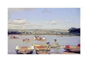 Vintage photograph Boating Lake Sandown Isle Of Wight