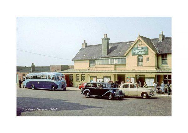 Vintage photograph Sandown Station Isle Of Wight