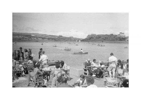 Vintage photograph Sandown Boating Lake Isle Of Wight
