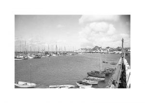 Vintage photograph Yarmouth Harbour Isle Of Wight