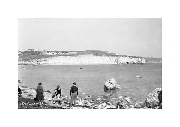 Vintage photograph of Freshwater Bay Isle Of Wight