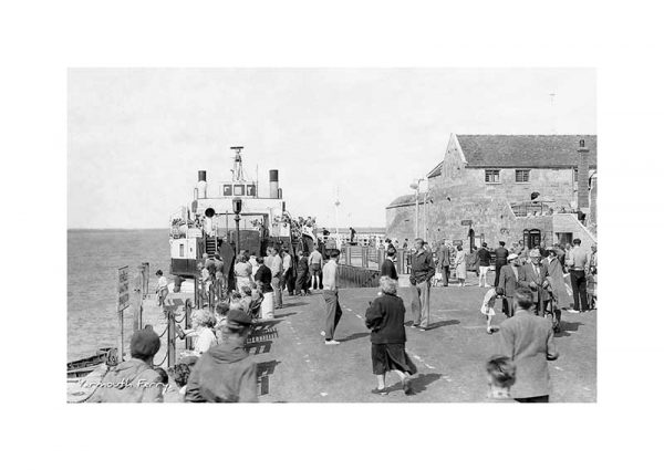 vintage photograph yarmouth ferry isle of wight