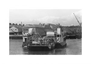 Vintage photograph Floating Bridge Cowes Isle Of Wight