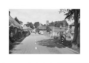 Vintage photograph Godshill Isle Of Wight