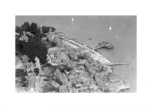 Vintage photograph Cowes Aerial Isle Of Wight