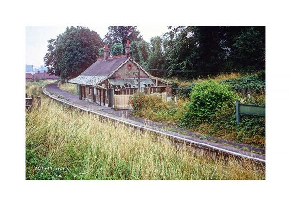 vintage photograph Mill Hill Station Cowes Isle Of Wight