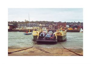 Vintage photograph Cowes floating bridge Isle Of Wight