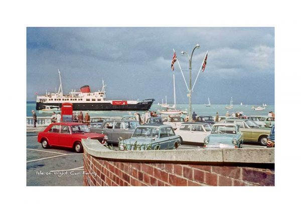 Vintage photograph Isle Of Wight Car Ferry