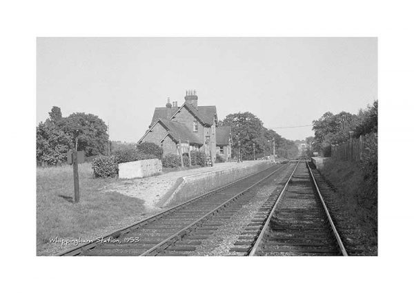 Vintage photograph Whippingham Station Isle Of Wight
