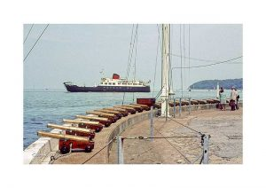 Vintage photograph Cowes Cannons sle Of Wight