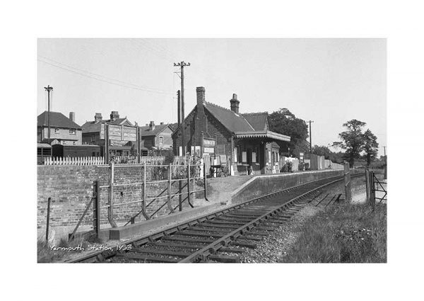Vintage photograph Yarmouth Station Isle Of Wight