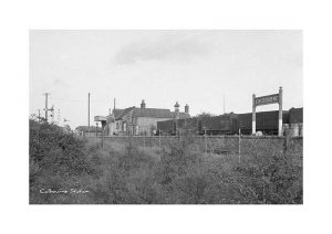 Vintage photograph Calbourne Station Isle Of Wight