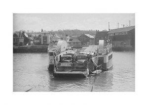 Vintage photograph The Floating Bridge Cowes Isle Of Wight
