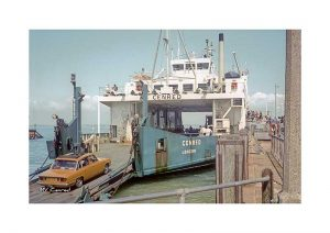Vintage photograph MV Cenred Isle Of Wight