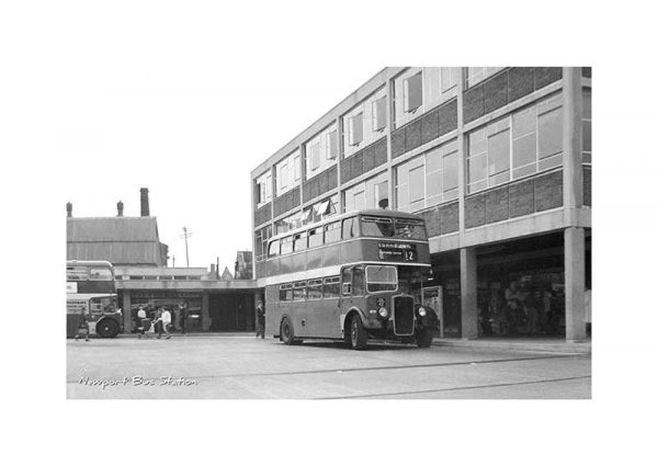 Vintage photograph Newport Bus Station Isle Of Wight