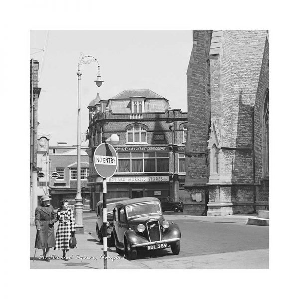 Vintage Photograph St Thomas Square Newport Isle Of Wight