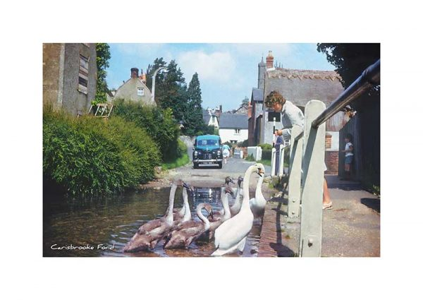 Vintage photograph Carisbrooke Ford Isle Of Wight