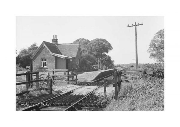 Vintage photograph Watchingwell Station Isle Of Wight