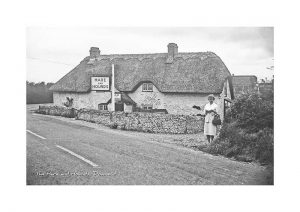 Vintage photograph The Hare and Hounds Downend Isle Of Wight