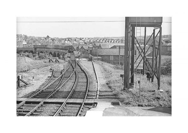 Vintage photograph Train approaching Newport Isle Of Wight