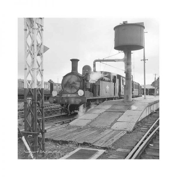 Vintage Photograph Newport Station Isle Of Wight