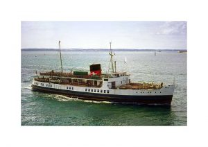 Vintage photograph of MV Brading Isle Of Wight