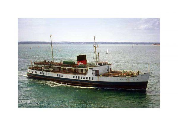 Vintage photograph of MV Brading Isle Of Wight