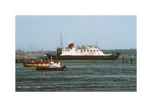 Vintage photograph of MV Cowes Castle Isle Of Wight