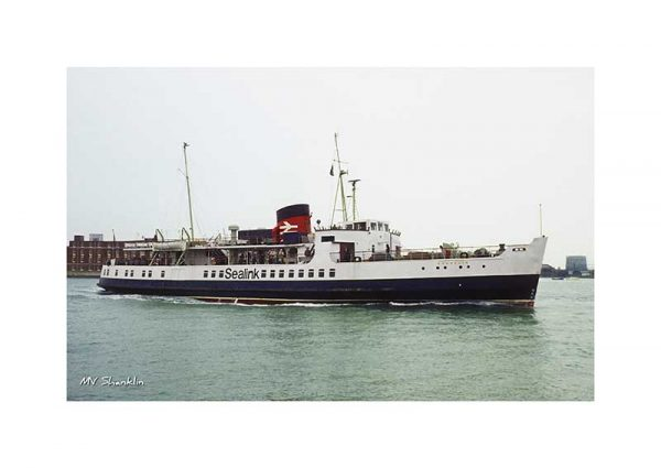 Vintage photograph of MV Shanklin Isle Of Wight