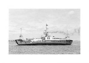 Vintage photograph of MV Fishbourne Isle Of Wight