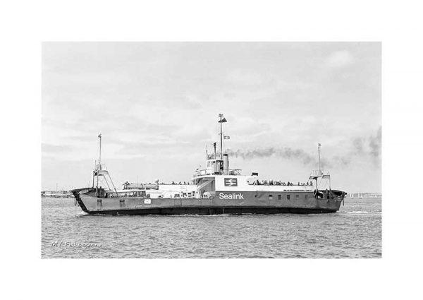 Vintage photograph of MV Fishbourne Isle Of Wight