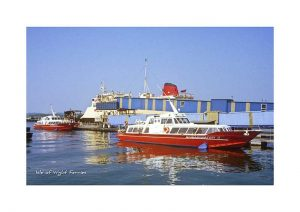 Vintage photograph Isle Of Wight Ferries
