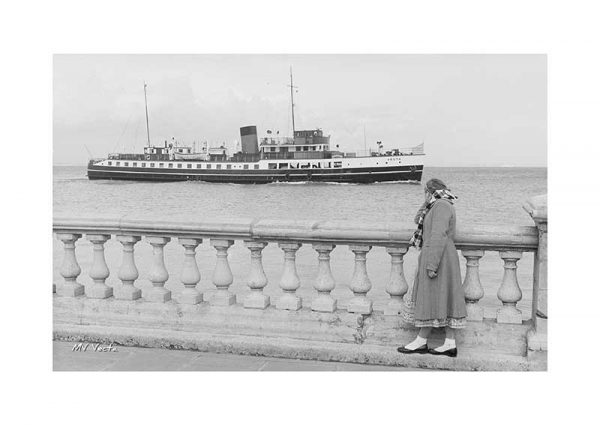 Vintage photograph MV Vecta Isle Of Wight