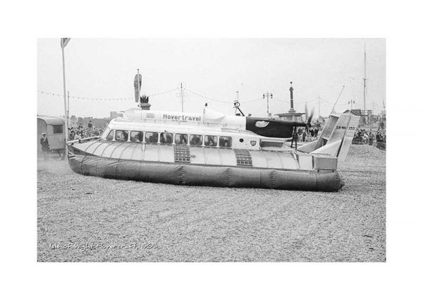 Vintage photograph Isle Of Wight Hovercraft