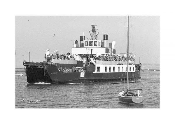 Vintage photograph MV Lymington Isle Of Wight