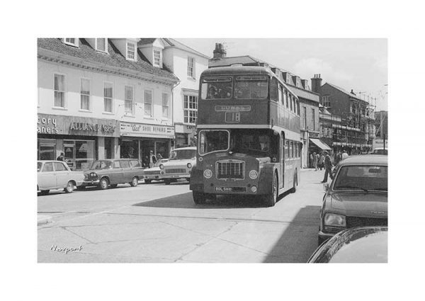 Vintage photograph Bus Newport Isle Of Wight