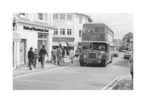 Vintage photograph Bus Sandown Isle Of Wight