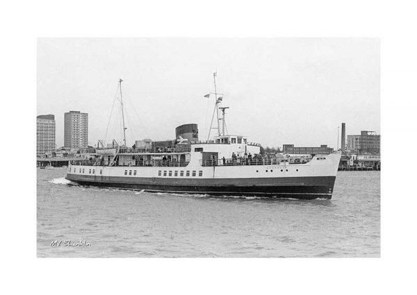 Vintage photograph MV Shanklin Isle Of Wight