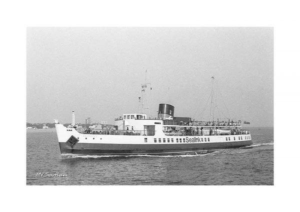 Vintage photograph MV Southsea Isle Of Wight