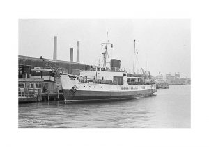 Vintage photograph MV Brading Isle Of Wight