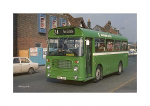 Vintage photograph Pan Estate Bus Newport Isle Of Wight