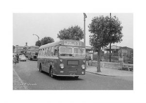 Vintage photograph Ryde Esplanade Bus Isle Of wight