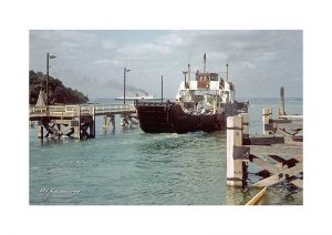 Vintage photograph MV Fishbourne Isle Of wight