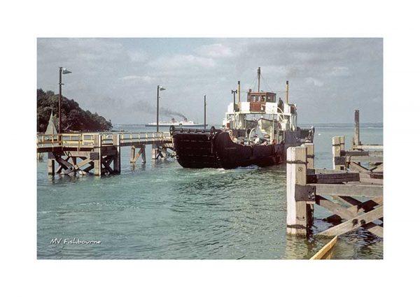 Vintage photograph MV Fishbourne Isle Of wight