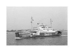 Vintage photograph MV Caedmon Isle Of Wight